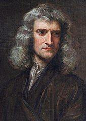 长发艾萨克·牛顿的画像
