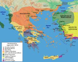 Antigonid Empire c. 200 BC
