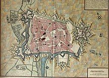 Plan of Cambrai in 1710