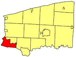 Location within Niagara County