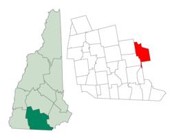 曼彻斯特在新罕布什尔州的位置