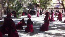 File:Monks debating at Sera monastery, 2013.webm