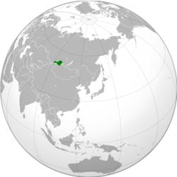 图瓦人民共和国的位置