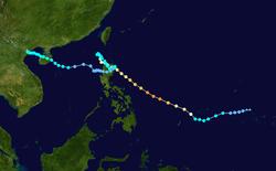 超强台风芭玛的路径图