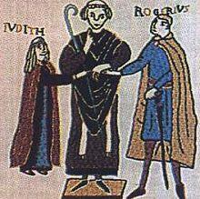 Roger I of Sicily and Judith d'Evreux.jpg