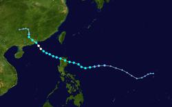 台风雪丽的路径图