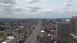 Kinshasa downtown and skyline