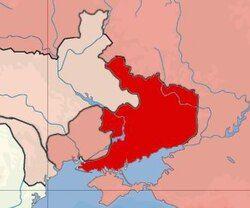 顿涅茨克 - 克里沃罗格共和国的地图的领土声称。