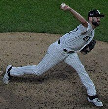 Lucas Giolito pitching in 2019 All Star Game (1) (Cropped).jpg