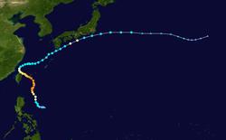 超强台风森垃克的路径图
