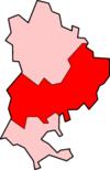 贝德福德郡中在贝德福德郡的位置