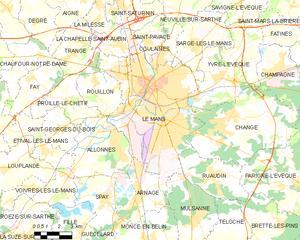 勒芒市镇地图
