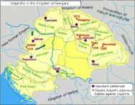 A map depicting the provinces of a dozen oligarchs
