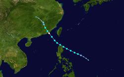 强热带风暴珊瑚的路径图