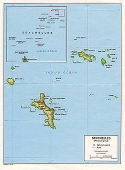 维多利亚在马埃岛上的位置。