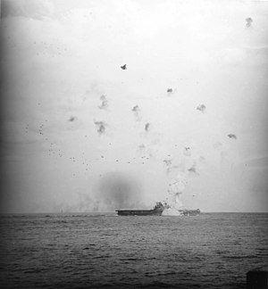 USS Enterprise (CV-6) hit by kamikaze on 21 May 1945 (80-G-323565).jpg