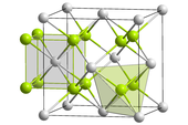 Crystal structure of fluorite