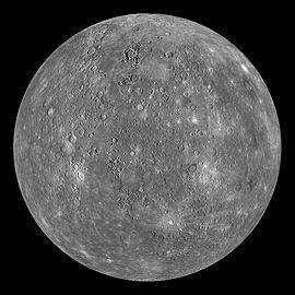 信使号探测器的水星合成影像。