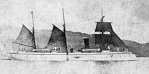 Japanese gunboat Oshima in 1892.jpg