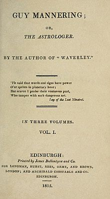 text style title page by the author of Waverley