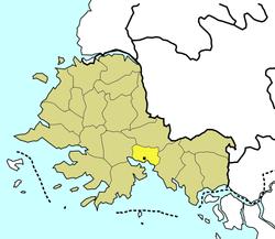 海州市在黄海南道的位置
