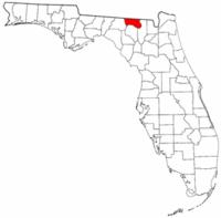 佛罗里达州汉密尔顿县地图