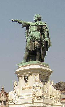Statue of Jacob of Artevelde on the Vrijdagmarkt in Ghent