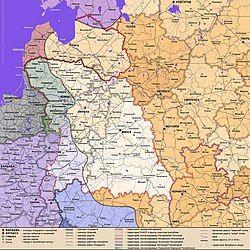 显示利特贝尔预定边界的地图