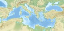 Battle of Bir Hakeim is located in Mediterranean