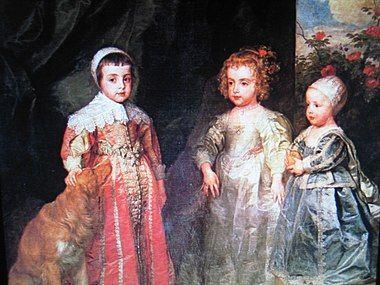 Van Dyck, Charles II, James II and pr Mary.jpg