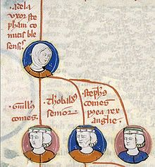 A medieval family tree of Stephen's immediate family