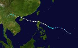 强台风海鸥的路径图