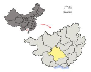 图中高亮显示的是南宁市
