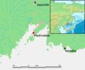 Vladivostok and Nakhodka location