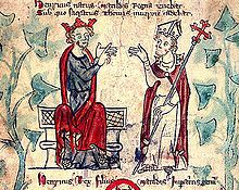 Picture of Henry II and Thomas Becket