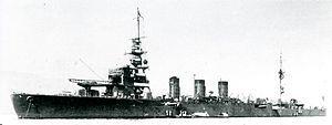 Japanese cruiser Kinu in 1931.jpg