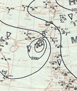 1937年9月1日的天气图