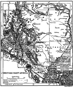 1911年英属东非地图.