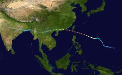 超强台风荷贝的路径图