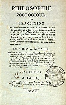 "Title Page of Lamarck, ""Philosophie Zoologique...,"" Wellcome L0033032.jpg"