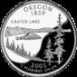 Oregon quarter dollar coin