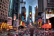 Bustling Times Square