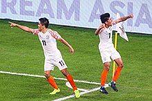 Chhetri at 2019 AFC Asian Cup