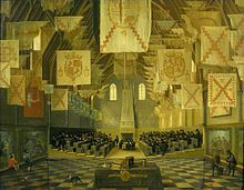 Interior of the Great Hall on the Binnenhof in The Hague, during the Great Assembly of the States-General in 1651.jpg