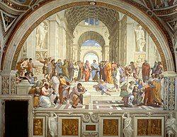 """""""The School of Athens"""" by Raffaello Sanzio da Urbino.jpg"""