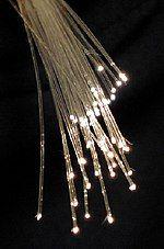 一束两端发光的玻璃丝