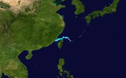 热带风暴南川的路径图