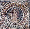 Palazzo dei gran maestri di rodi, sala delle muse, mosaico delle nove muse da kos 03 talia.JPG