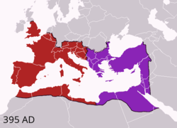 Western and Eastern Roman Empires 395