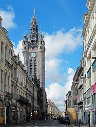 The belfry of the town hall in Douai